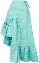 Marques Almeida Marques'almeida long asymmetric frill skirt