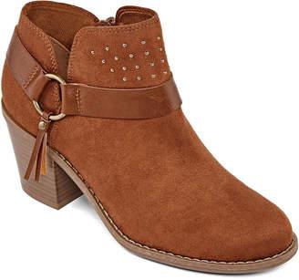 A.N.A Womens Malden Booties Block Heel