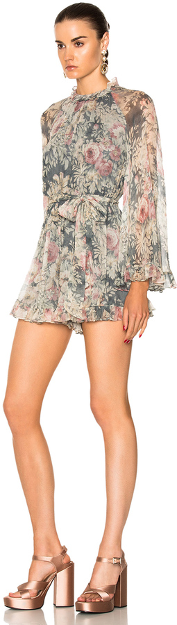 Zimmermann for FWRD Cavalier Playsuit Romper