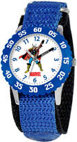 Marvel Thor Time Teacher Kids Blue Fast Strap Watch