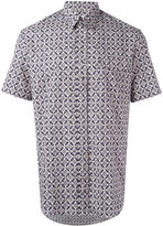 Maison Margiela pattern short sleeve shirt - men - Cotton - 41