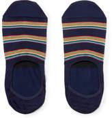Paul Smith Striped Stretch Cotton-Blend No-Show Socks