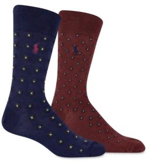 Polo Ralph Lauren Men's 2-Pk. Foulard Slack Socks