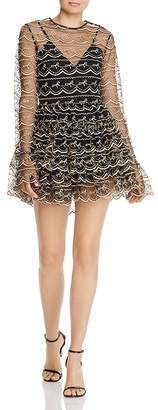 Alice McCall Satellite of Love Embroidered Tulle Romper