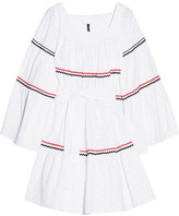 Lisa Marie Fernandez Rickrack-trimmed Broderie Anglaise Cotton Dress - White