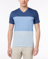 Alfani Men's Stretch V-Neck Colorblocked T-Shirt, Created for Macy's