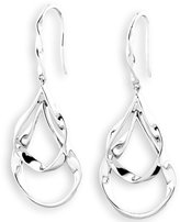 Mosaic Design Jewelry 925 Sterling Silver Double Twisted Droplet Dangle French Wire Earrings