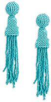 RJ Graziano Beaded Tassel Drop Earrings