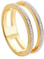 Monica Vinader Skinny Double Band Diamond Ring