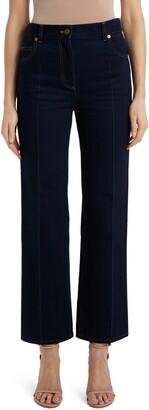 Valentino Contrast Stitch Flare Jeans