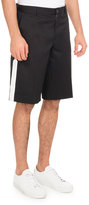 Givenchy Cotton Shorts with Star & Band, Black