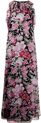 P.A.R.O.S.H. Sleeveless Floral Print Dress