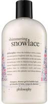philosophy SHIMMERING SNOWLACE SHOWER GEL & BUBBLE BATH