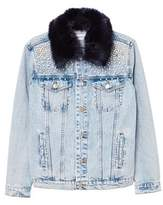 MANGO Pearl denim jacket