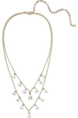Kenneth Jay Lane Cz By 14-karat Gold-plated Crystal Necklace