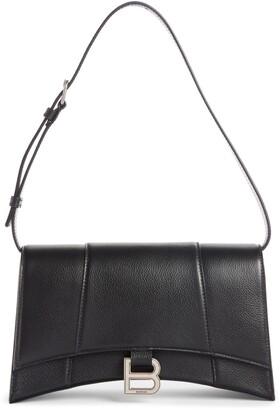 Balenciaga Small Hourglass Sling Leather Shoulder Bag