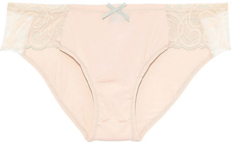 Cosabella Evolved Stretch-jersey And Lace Low-rise Briefs