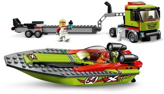 Lego City 60254 Race Boat Transporter with Speedboat