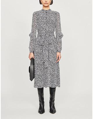 MICHAEL Michael Kors Lily ruffle-trimmed leopard-print crepe dress
