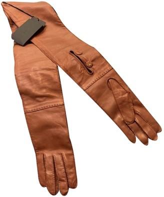 Prada Camel Leather Gloves