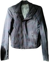 Maje Purple Cotton Jacket for Women