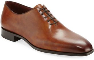 Magnanni Men's One-Piece Leather Lace-Up Dress Shoe