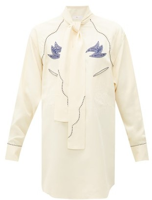 Toga Western Embroidered Blouse - Ivory