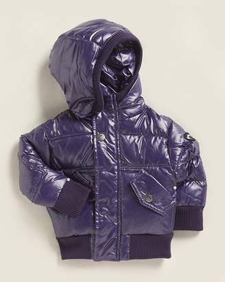 Appaman (Newborn/Infant Girls) Sparkle Purple Puffy Down Coat