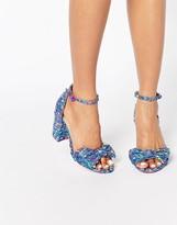 Asos HAMMOCK Novelty Bow Block Heel Sandal