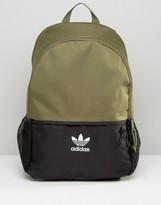 adidas Color Block Backpack With Mini Trefoil Logo