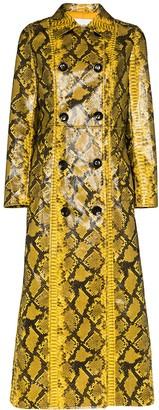 Stand Studio Sasha snake-print faux leather coat