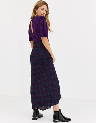 Rahi Cali Rahi cher check maxi dress