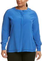 Marina Rinaldi Plus Basic Silk Top