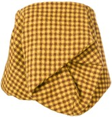 Rick Owens Checked Strapless Top