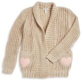 Jessica Simpson Girls 7-16 Metallic Knit Cardigan