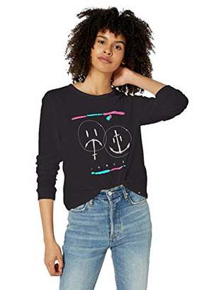 Hurley Women's Apparel Women's Laugh Now Shred Later Perfect Long-Sleeve Tee