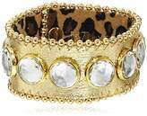 """Betsey Johnson Throwback Betsey"""" Leather Bracelet"""