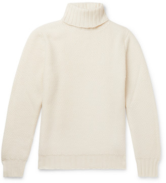 Beams Slim-Fit Honeycomb-Knit Merino Wool Rollneck Sweater