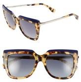 Fendi 53mm Retro Sunglasses