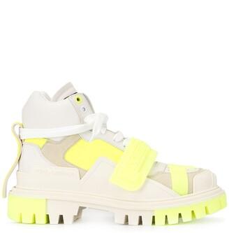 Dolce & Gabbana colour block chunky heel sneakers