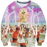 Snlydtan Women Men UFO Cat Attack Swim Beach Sweatshirt Hoodies Clothing XL