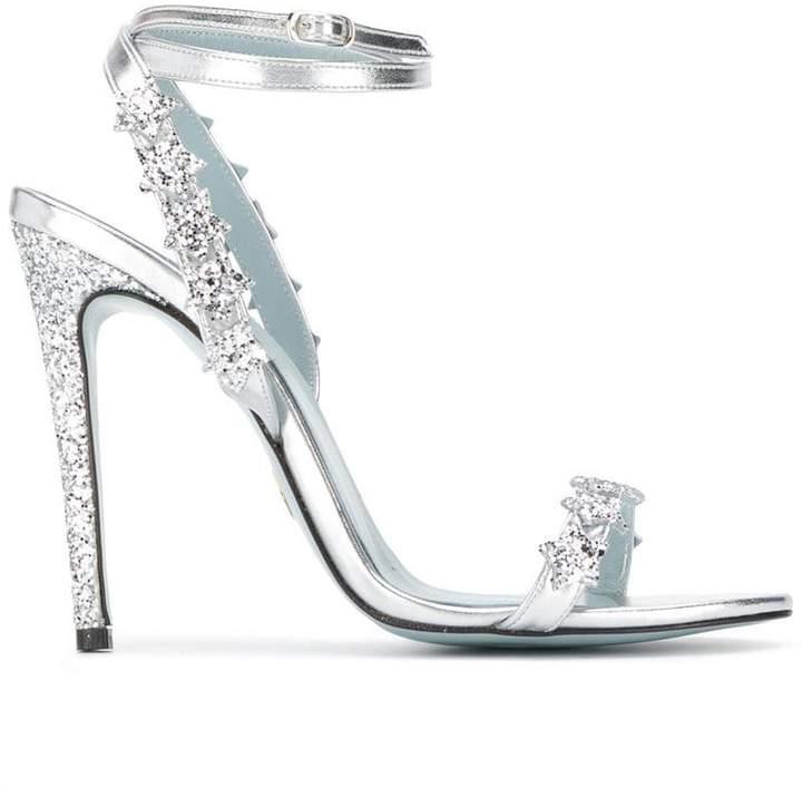 Chiara Ferragni glitter star pumps
