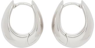 Tom Wood Silver Small Ice Hoop Earrings