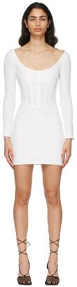 Dion Lee White Rib Corset Mini Dress