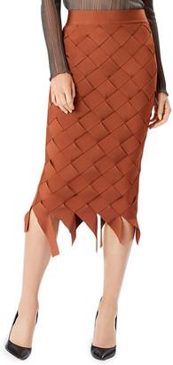 Herve Leger Bandage Weave Pencil Skirt