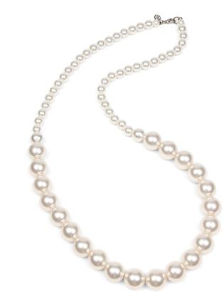 Ben-Amun Single Strand Glass-Pearl Necklace