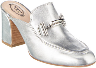 Tod's Double T Leather Mule - ShopStyle