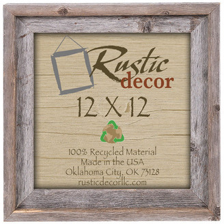 "Rustic Decor Llc Chakota Signature Reclaimed Rustic Barn Wood Wall Photo Frame, 12""x12"""