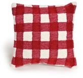 """Liora Manne Frontporch Gingham 18"""" Pillow - Red"""