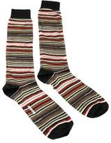 Missoni Gm00cmu5234 0001 Olive/tan Knee Length Socks.
